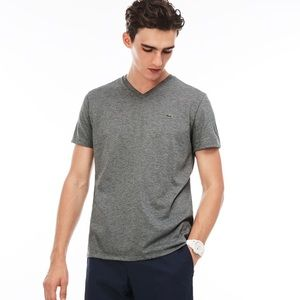 Men's Lacoste T-shirt - navy and white